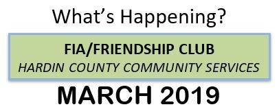 March FIA/Friendship Club Banner