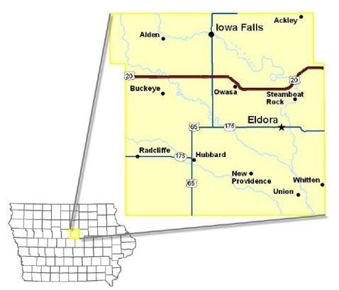 Hardin County Map