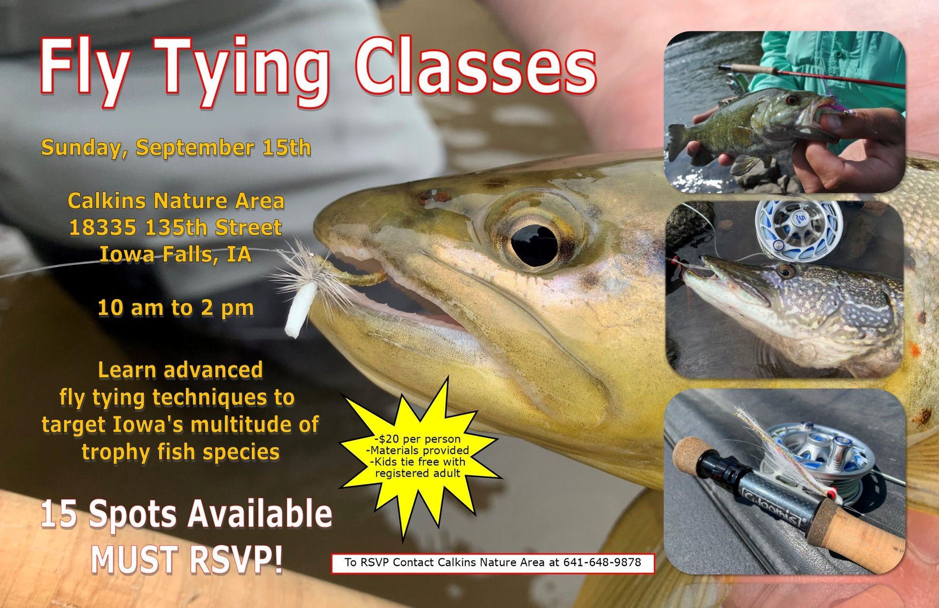 Fly Tying Classes Flyer