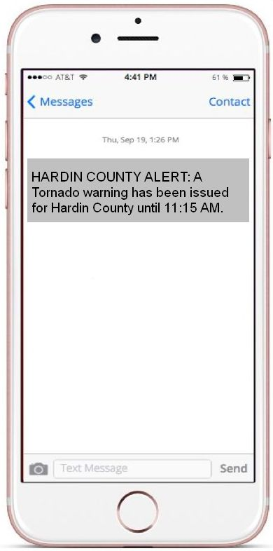 Cell Phone of Alert System