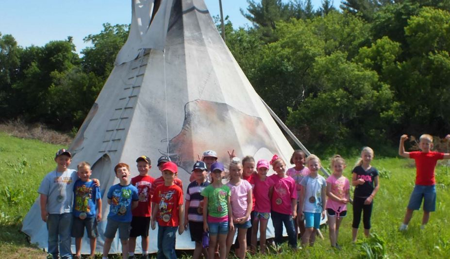 Kids and Tipi